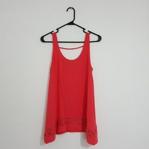 Dusty Poppy red trapeze top
